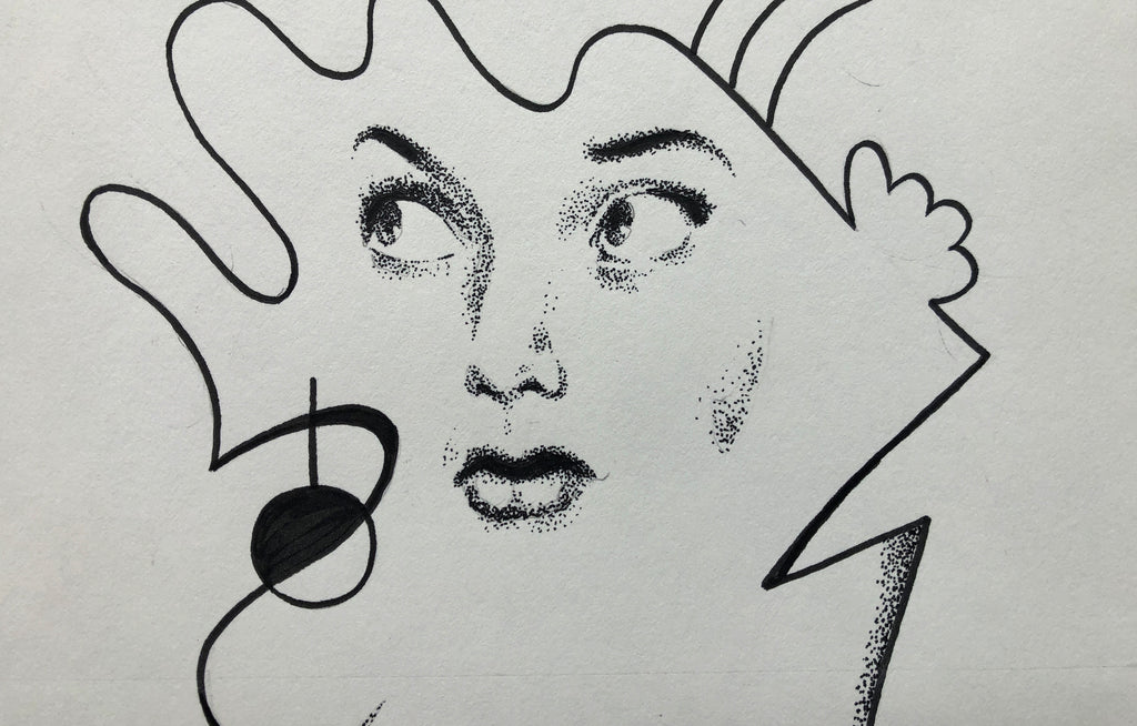 Vicki (Original Drawing For Random Man Book) by Mac Blackout