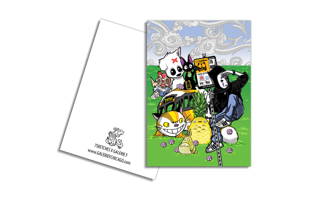 Notecard [Ghibli Gang] by 7Sketches