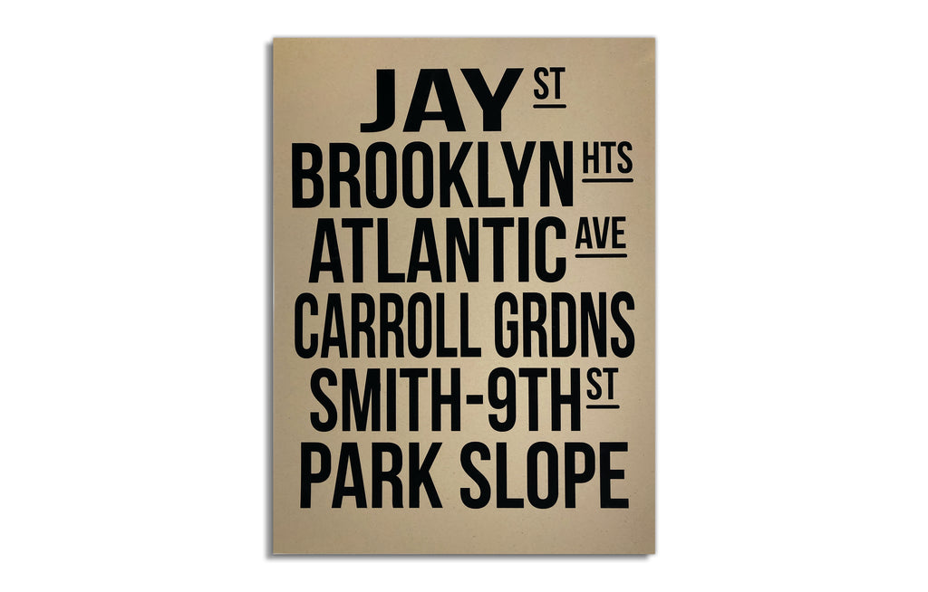Brooklyn Bus Scroll by Billy Craven