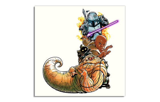 J is for JANGO JEDI JAWAS AND JABBA by Joshua Budich