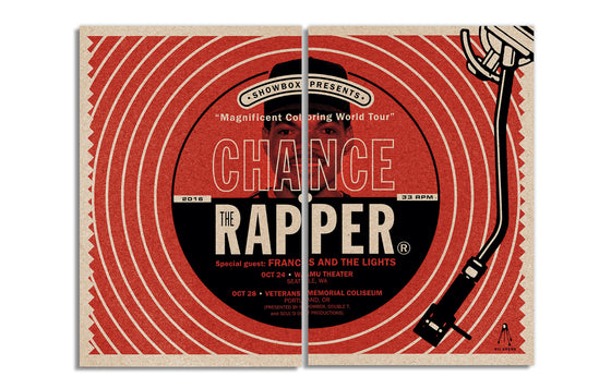 Chance The Rapper [Diptych] by Kii Arens