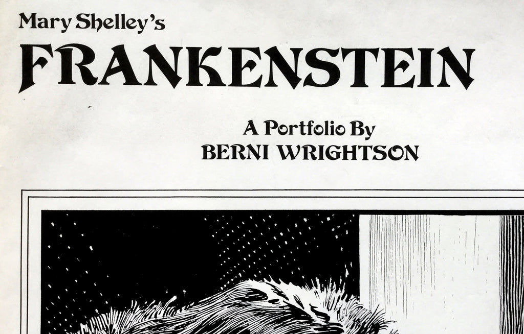 Mary Shelley's Frankenstein - A Portfolio by Berni Wrightson - Galerie Finds