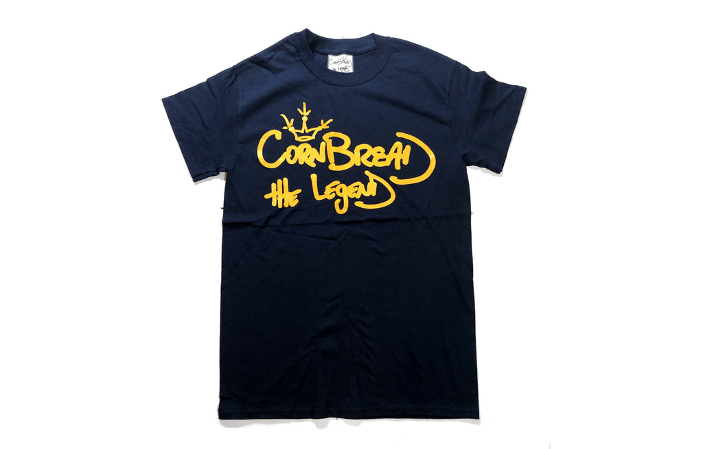 Crown T-Shirt [Navy] by Cornbread the Legend
