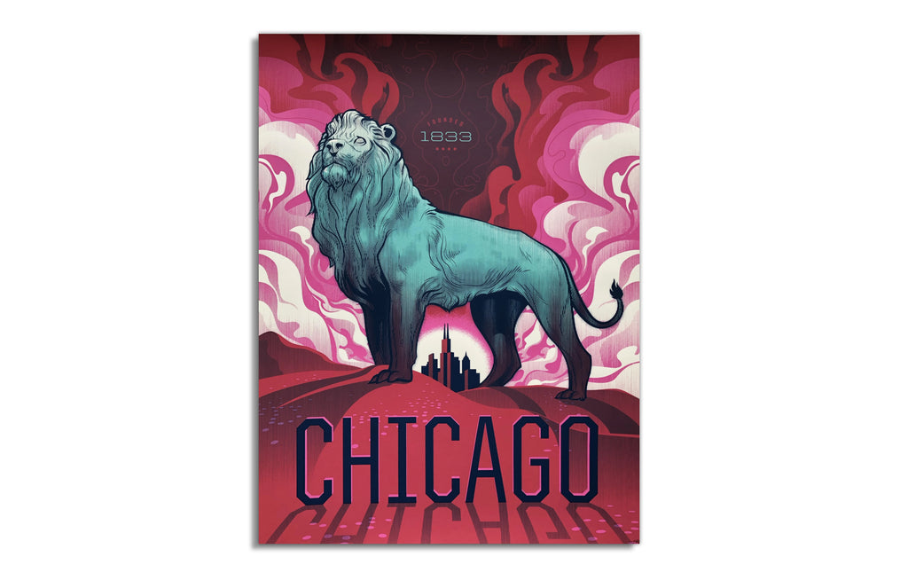 Chicago Bronze Lion by Delicious Design League