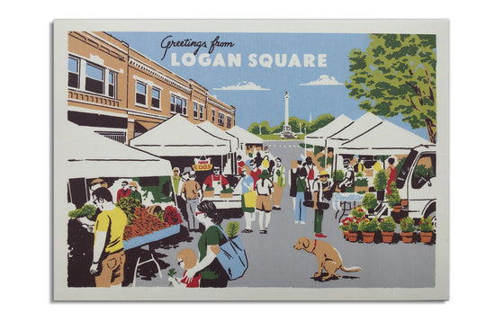 Postcard [3] Logan Square by Ryan Duggan