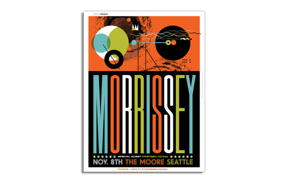 Morrissey at The Moore, Seattle by Invisible Creature