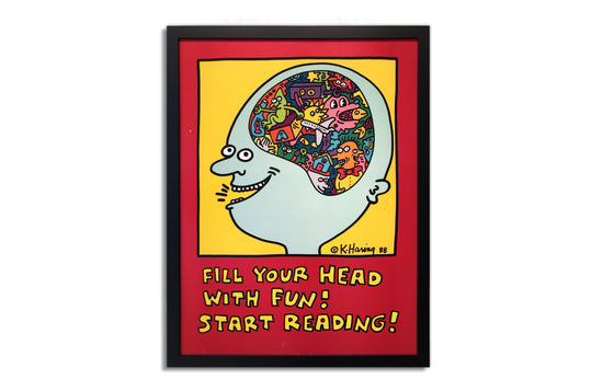 Fill Your Head With Fun! Start Reading by Keith Haring