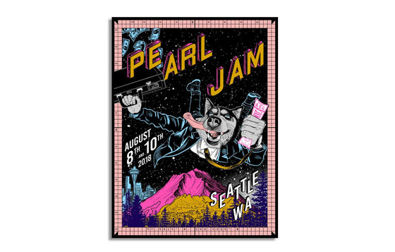 Pearl Jam Seattle by Faile