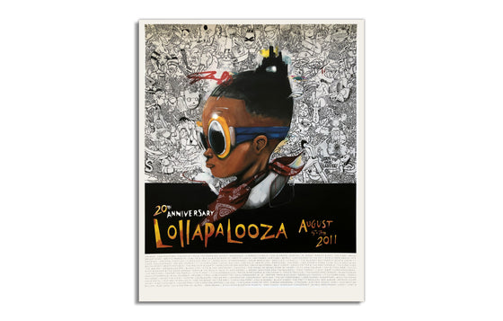 Hebru Brantley 2011 Lollapalooza 20th Anniversary Poster