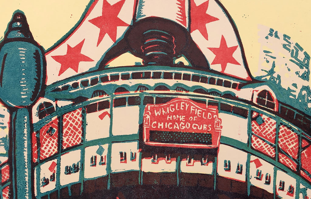 30 Year Retrospective - Wrigley Field by Jim Pollock