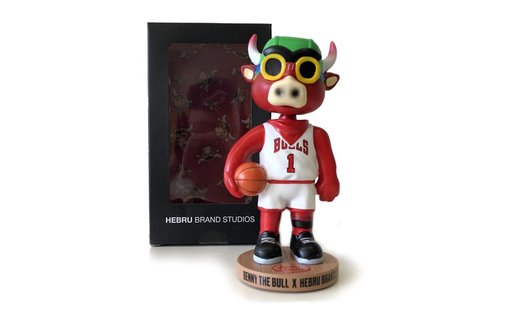 Chicago Bulls Bobblehead by Hebru Brantley