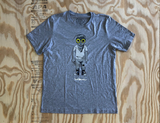 Standing Flyboy T-Shirt [Grey] by Hebru Brantley