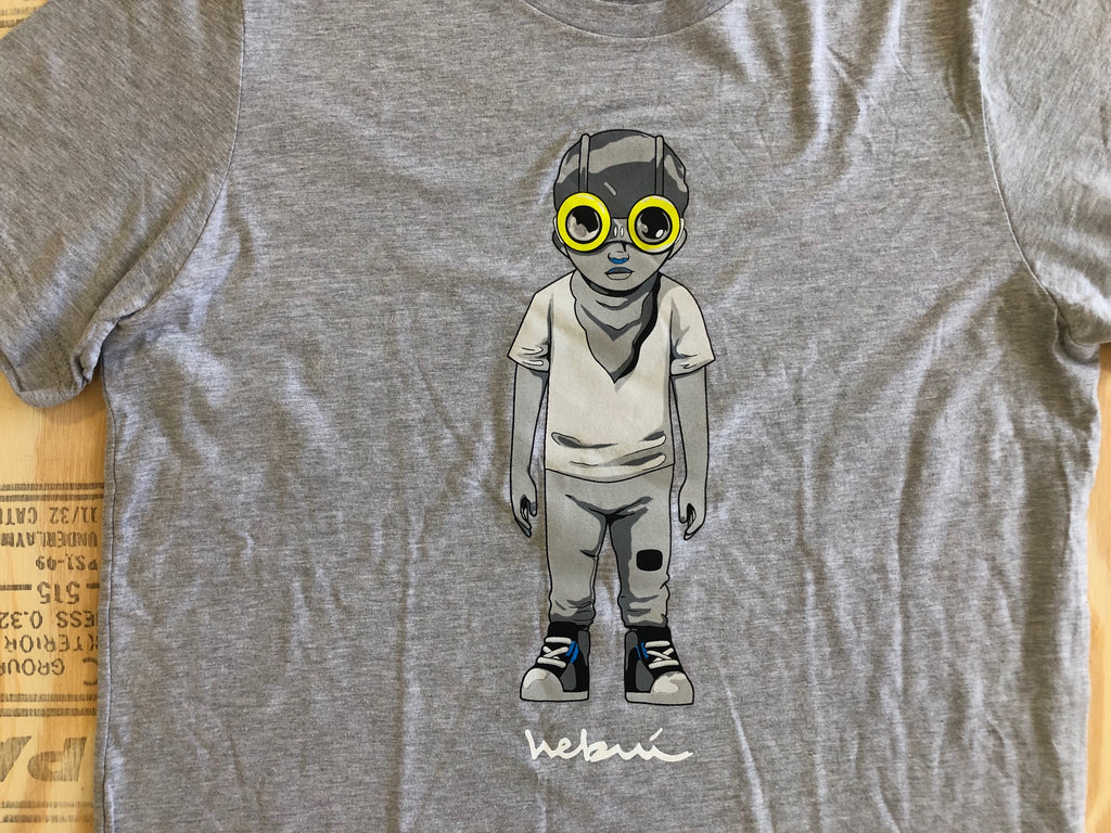 Flyboy T-Shirt [Grey] by Hebru Brantley