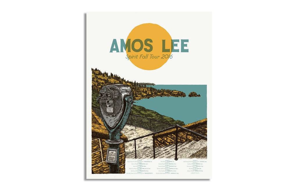 Amos Lee Spirit Fall Tour September 2016 by Landland