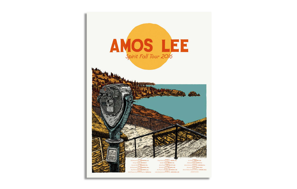 Amos Lee Spirit Fall Tour Oct-Nov 2016 by Landland