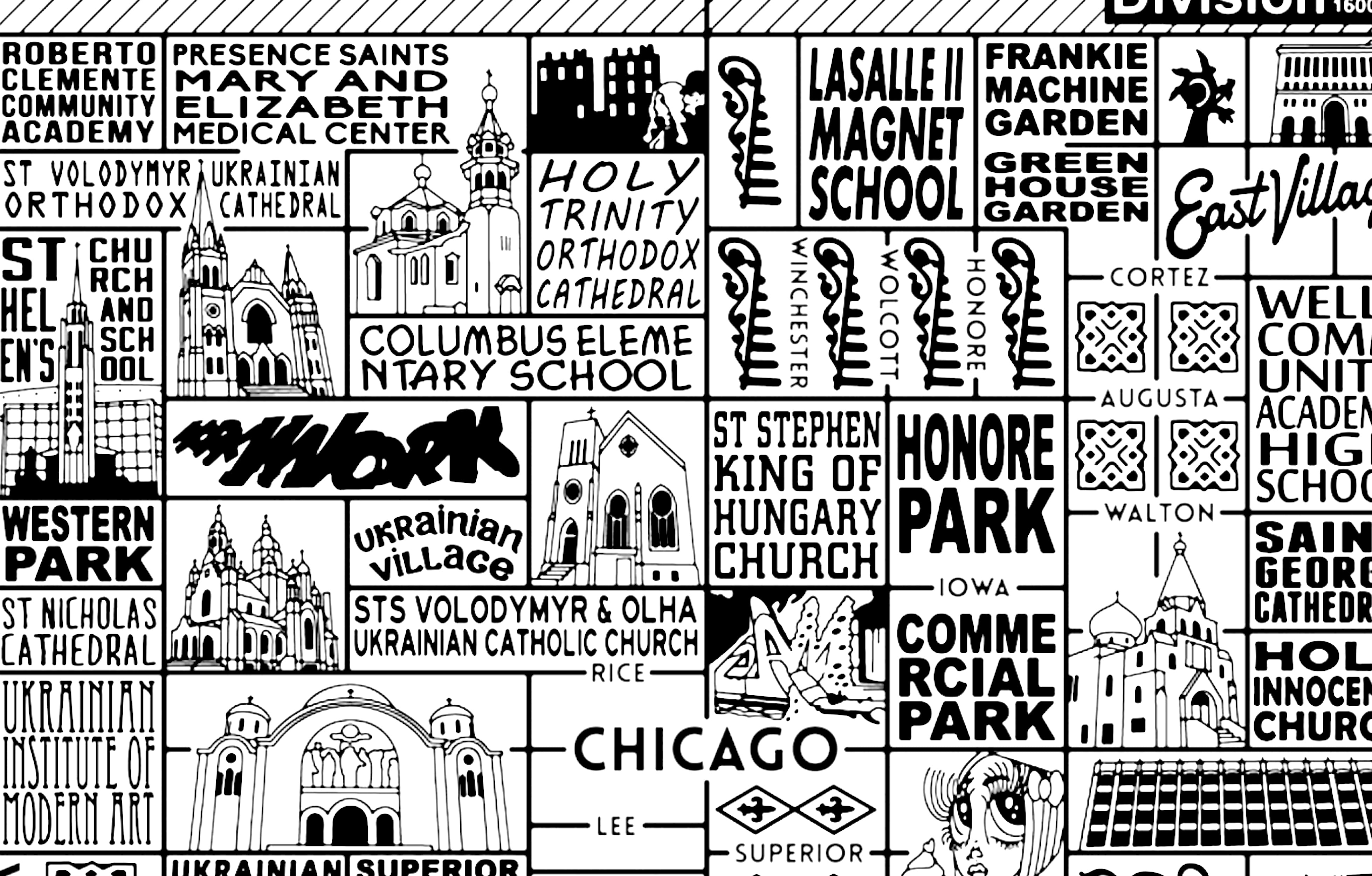 West Town Chicago Map.West Town Map By Joe Mills Galerie F