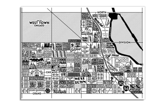 West Town Map by Joe Mills