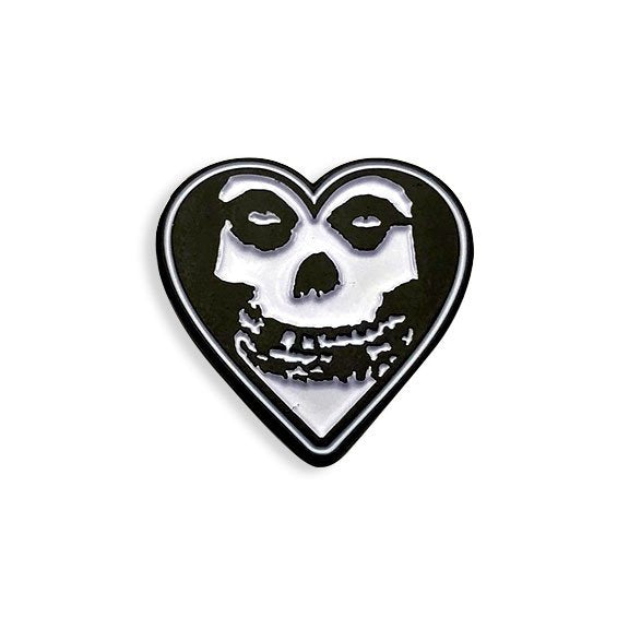 Misfits White Heart Enamel Pin by Yesterdays Co