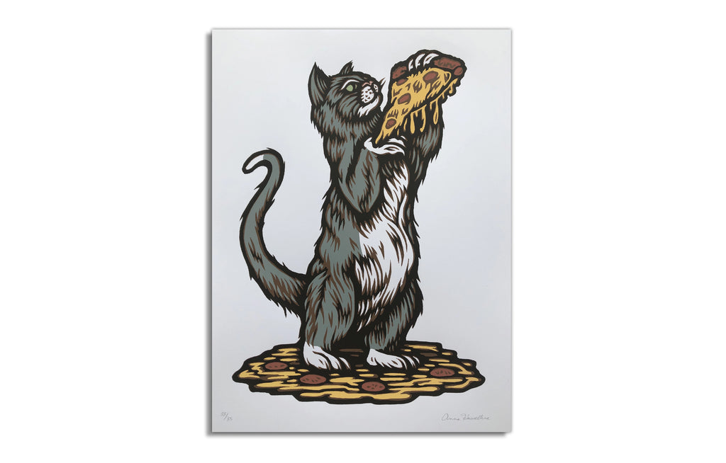 Chicago Pizza Cat by Anna Hasseltine