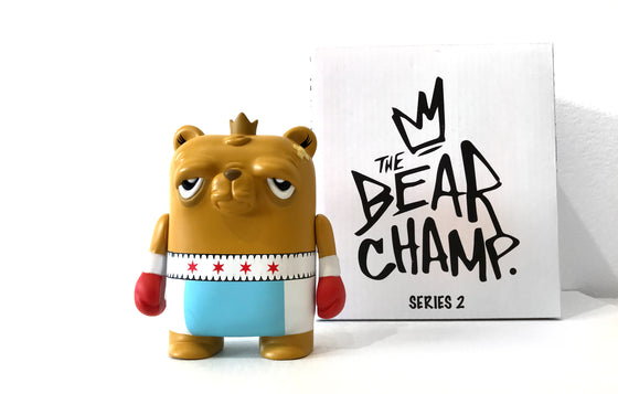 Stars N Bars - The Bearchamp Vinyl Figure by JC Rivera • Galerie F Exclusive