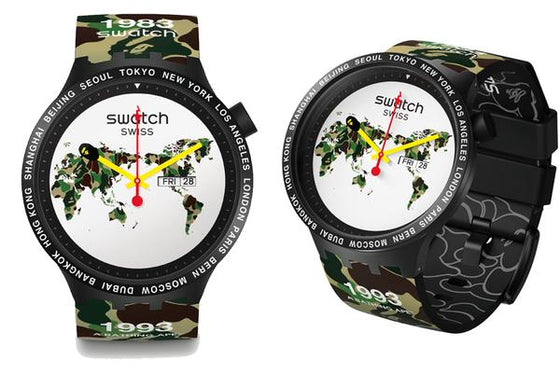 Swatch x Bape - Big Bold World Edition