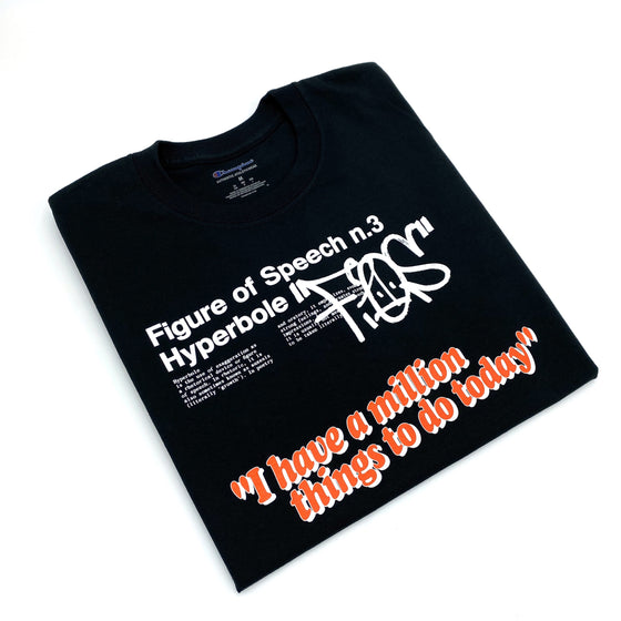 """million things"" Virgil Abloh x MCA black t-shirt"
