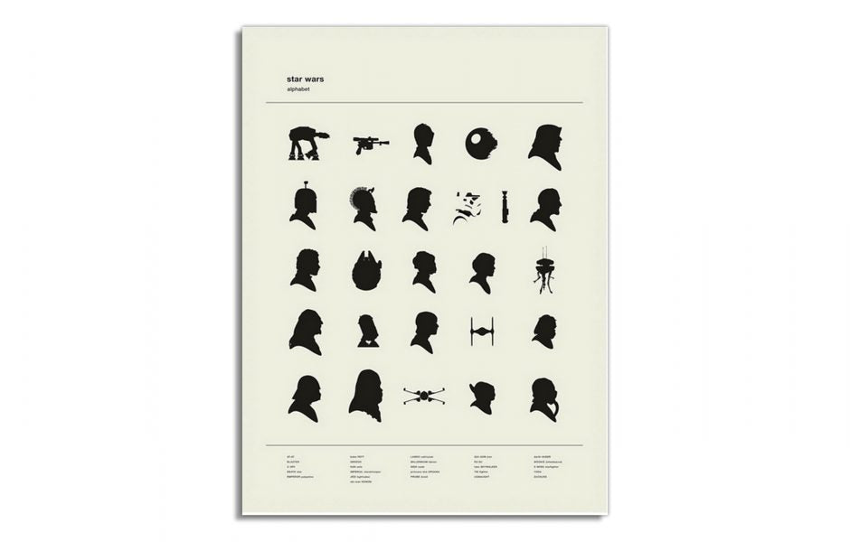 Star Wars-Inspired Alphabet by Concepcion Studios