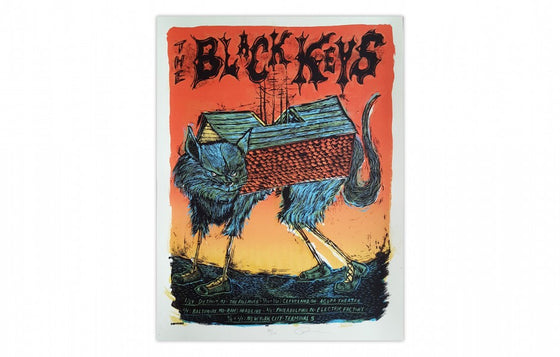 Black Keys Tour Poster 2009 by Dan Grzeca