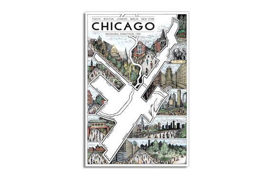 Chicago Marathon by Cape Horn Illustration