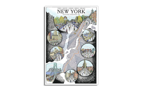 New York Marathon by Cape Horn Illustration