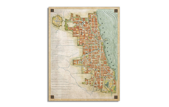 Chicago Renaissance Map by Cape Horn Illustration