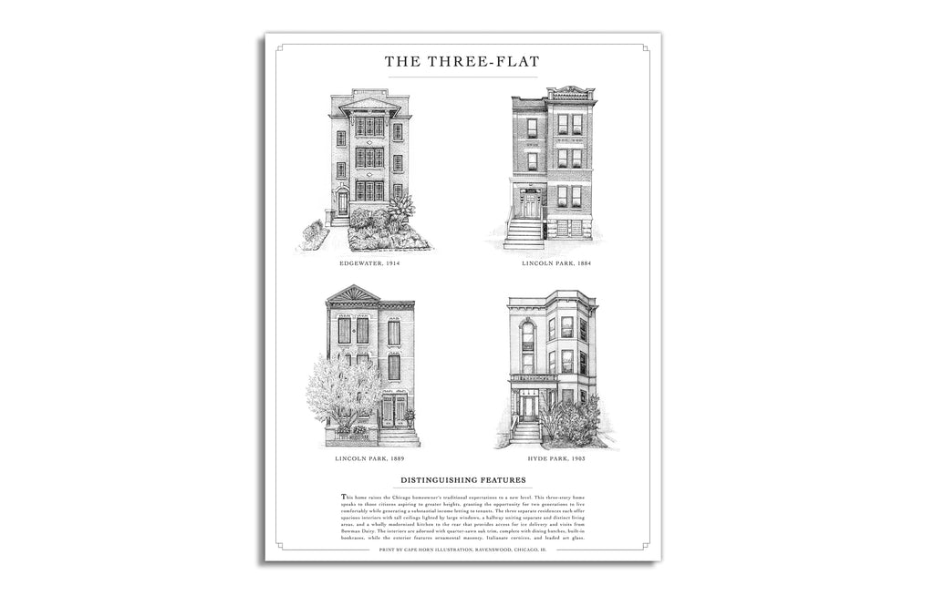 Three Flat by Cape Horn Illustrations