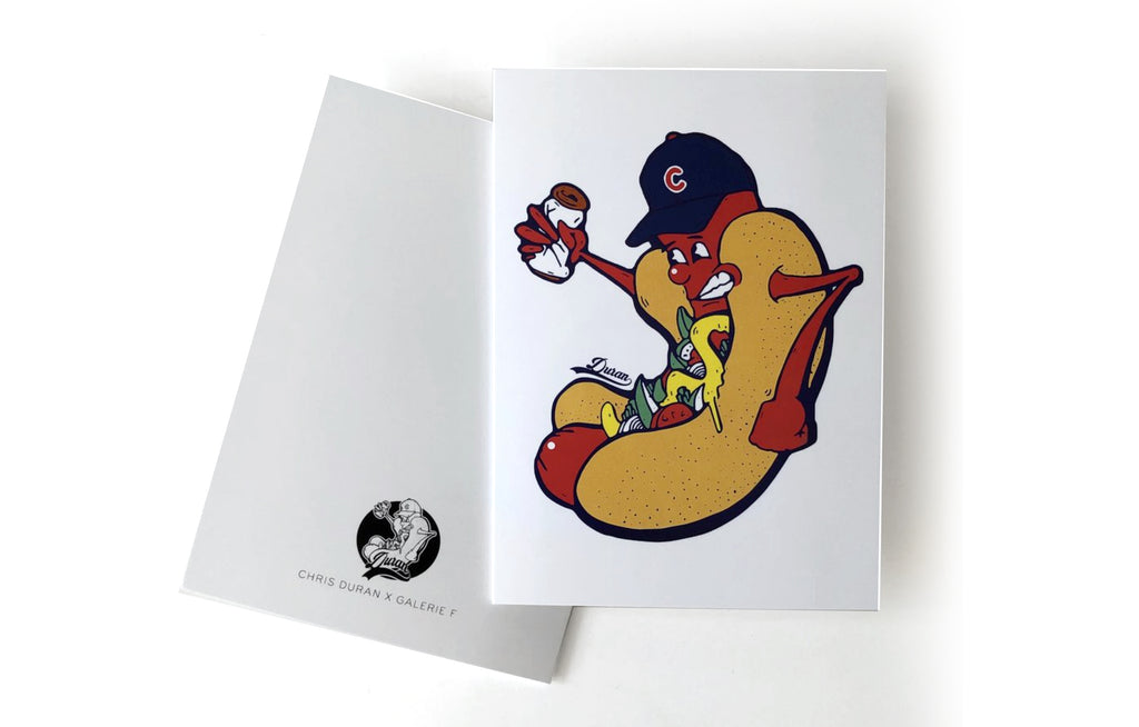 Chicago Dog Notecard by Chris Duran