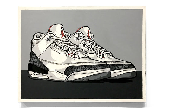 Air Jordan 3 - White Cement by Eric Pagsanjan