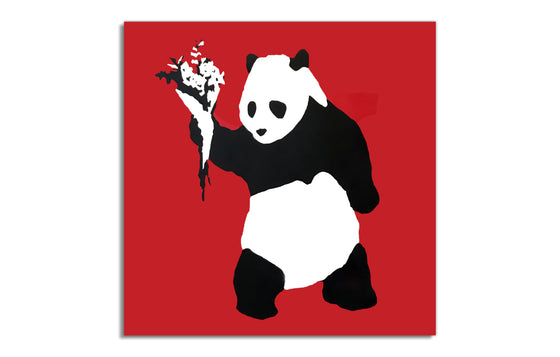 Peace Panda [Red] by Kreweduzoo
