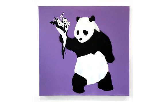 Peace Panda [Purple] by Kreweduzoo