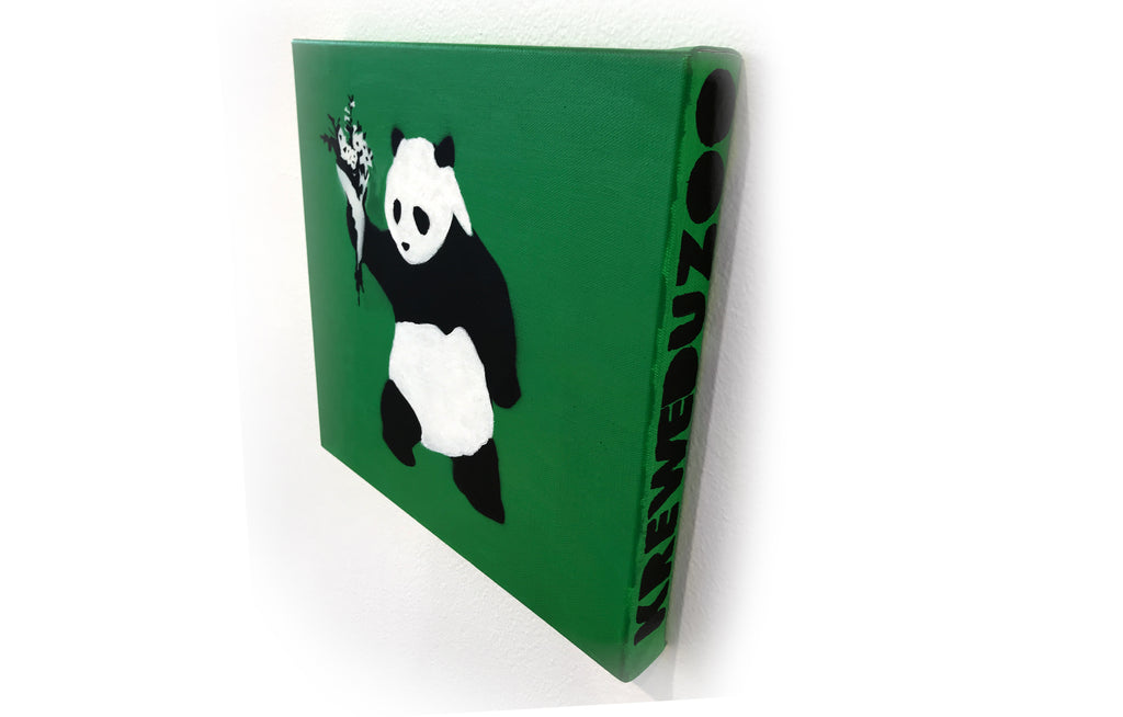 Peace Panda [Green] by Kreweduzoo