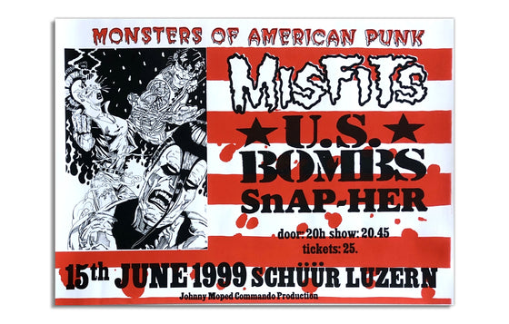 Misfits w/ US Bombs and Snap-Her [1999] Switzerland