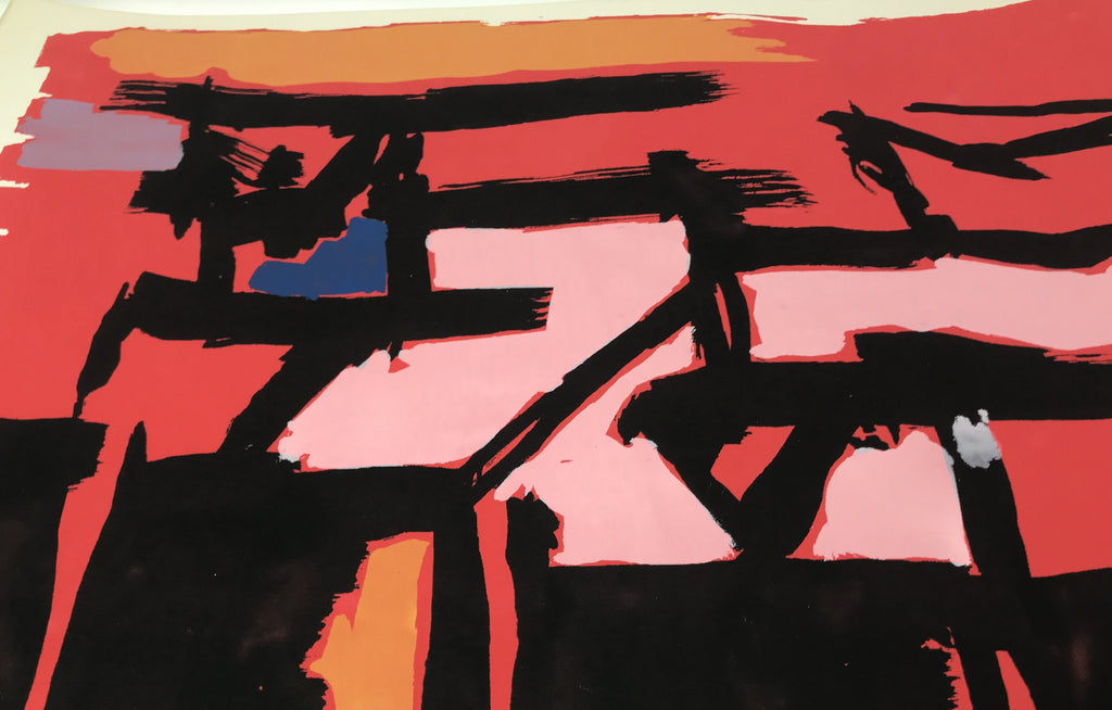 Abstract Expressionistic Lithograph by Angelo Savelli - Galerie Finds