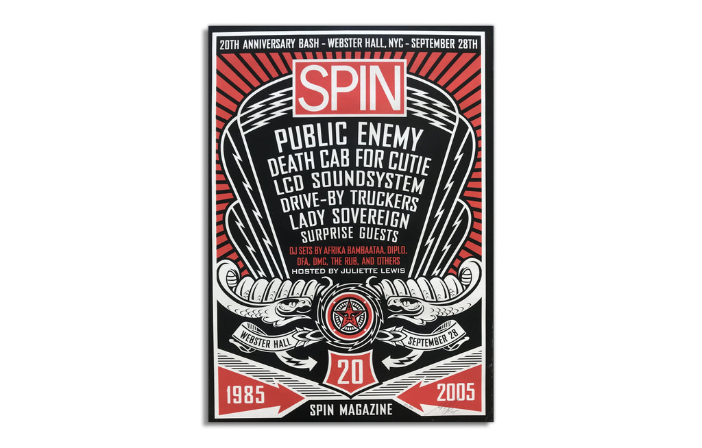 Spin Magazine by Shepard Fairey