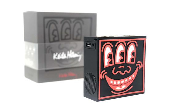Keith Haring SoundQube [Black] by ToyQube
