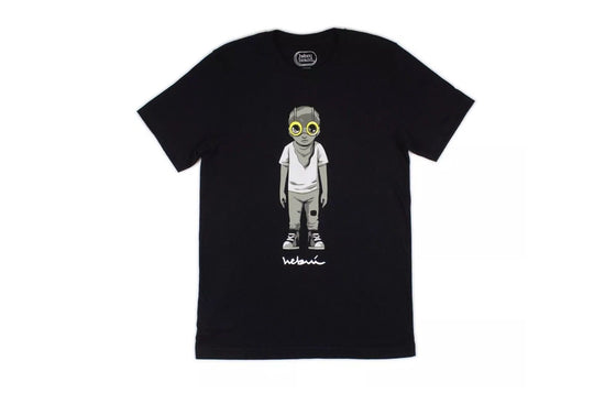 Standing Flyboy T-Shirt [Black] by Hebru Brantley