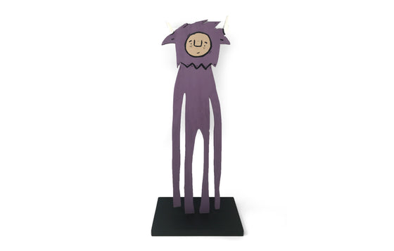 Statuette [Eggplant] by Penny Pinch