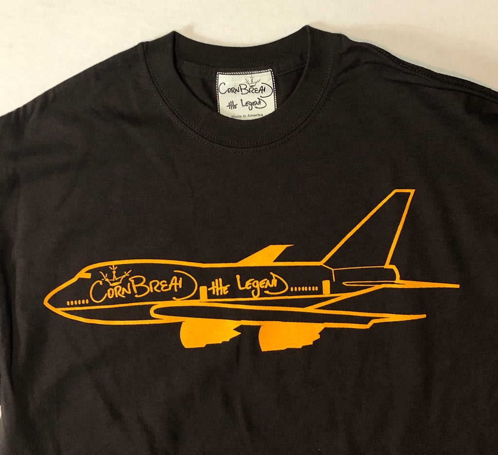 Airplane T-Shirt [Brown] by Cornbread the Legend