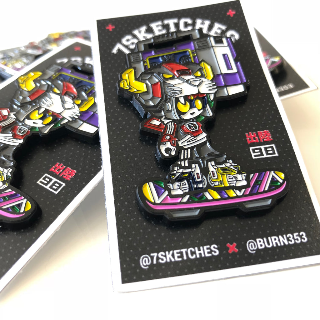 Pandatron Enamel Pin by 7sketches