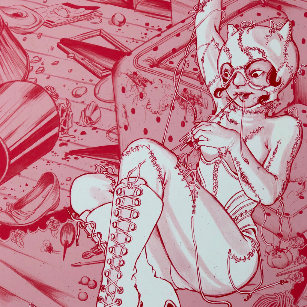 I Don't Know About You, Miss Kitty, But I Feel So Much Yummier [Print] by Vivian Le