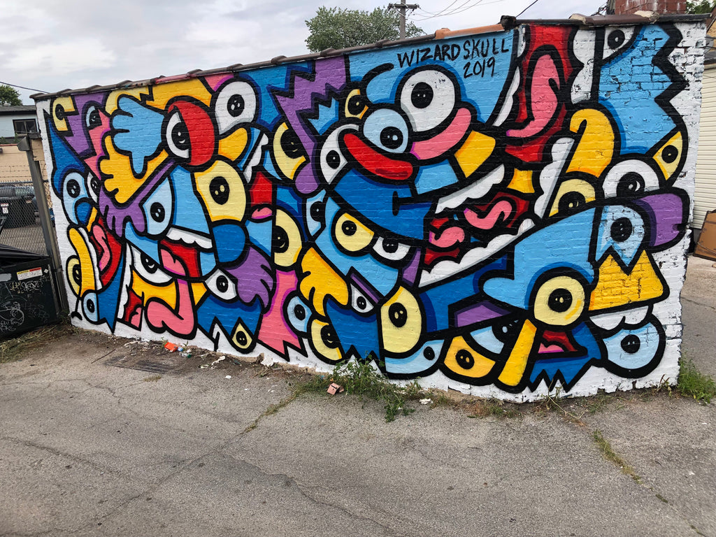 Logan Square Mural [Can 17] by Wizard Skull