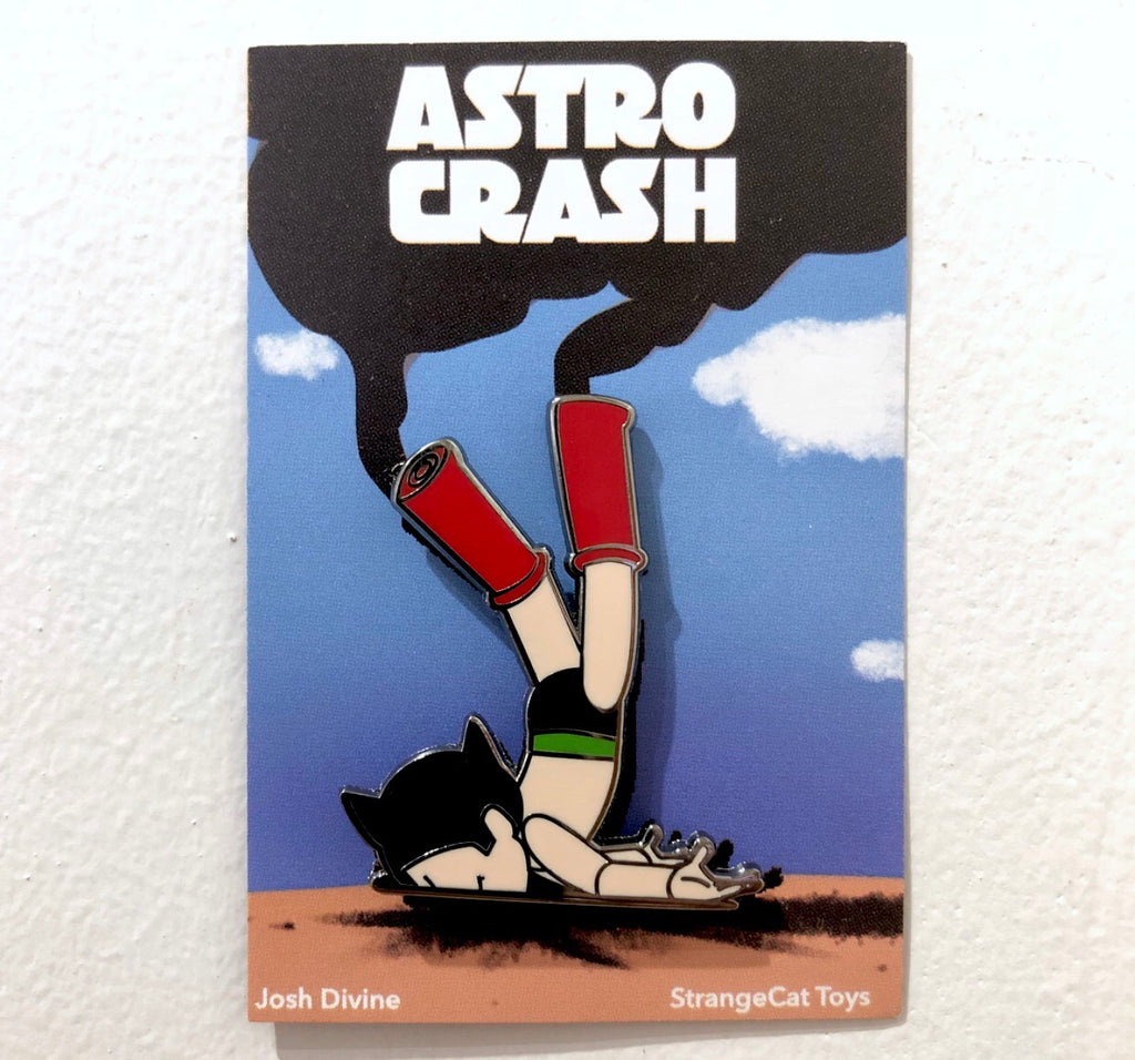 Astro Crash Enamel Pin by Josh Divine