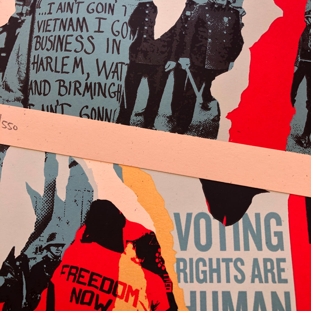 Voting Rights are Human Rights by [Obey] Shepard Fairey
