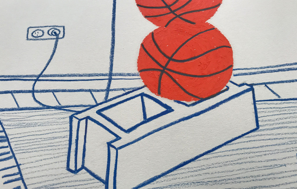 Untitled #1 [Basketball & Laptop] by Jeremy + Farrah